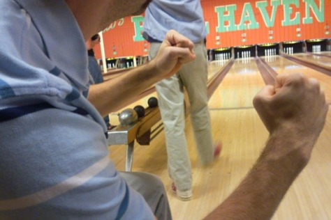 Sacco's features candlepin bowling, where participants use a grapefruit-sized ball to knock down tall, thin pins. Photo by Flickr user Logan Ingalls